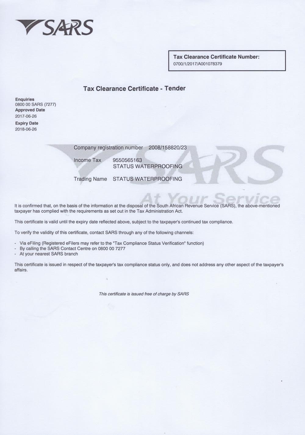 References Amp Certificates Status Waterproofing